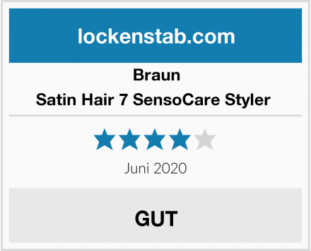 Braun Satin Hair 7 SensoCare Styler  Test