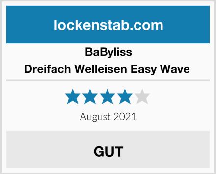 BaByliss Dreifach Welleisen Easy Wave  Test