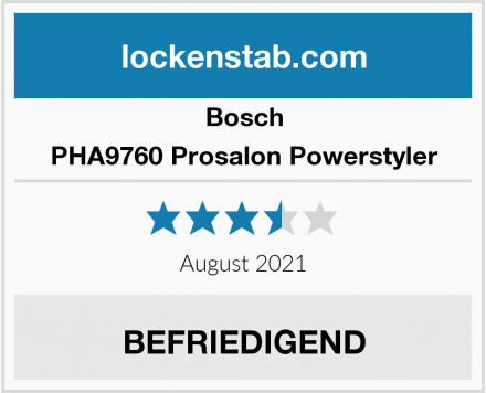 Bosch PHA9760 Prosalon Powerstyler Test