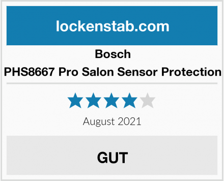 Bosch PHS8667 Pro Salon Sensor Protection Test