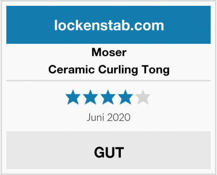 Moser Ceramic Curling Tong Test