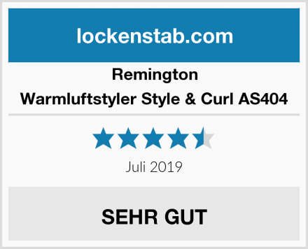 Remington Warmluftstyler Style & Curl AS404 Test