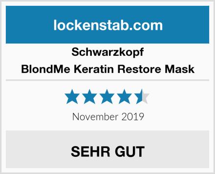 Schwarzkopf BlondMe Keratin Restore Mask Test