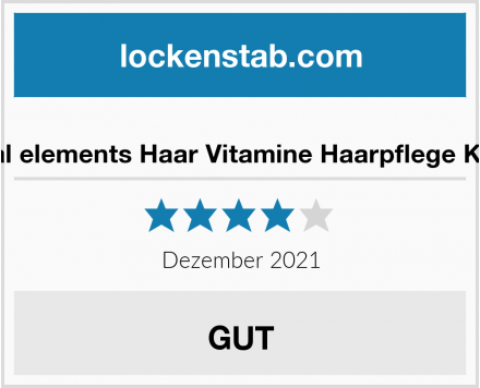 Natural elements Haar Vitamine Test